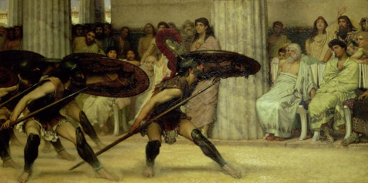 Pyrrhic-dance-sir-lawrence-alma-tadema
